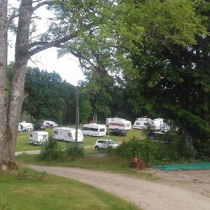camper pitch at Bjorsbo Forest & Lake Hideaways
